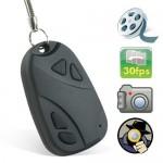 Car alarm remote hidden video camera
