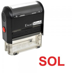 SOL self-inking rubber stamp