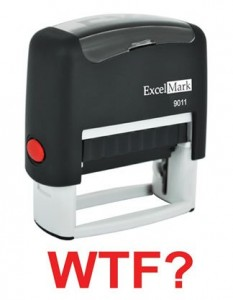WTF? Self-Inking Rubber Stamp