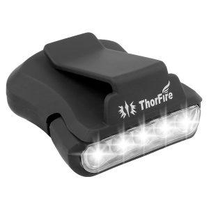 5 LED ball cap visor light