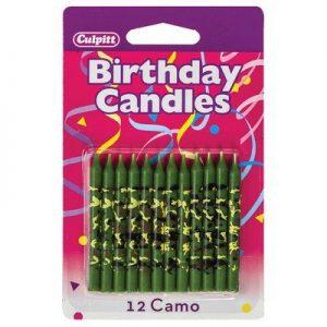 Camo Redneck Birthday Candles