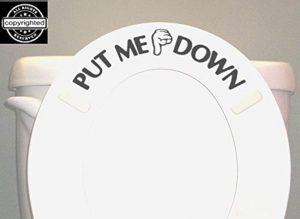 Put me down toilet seat sticker