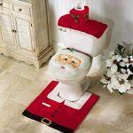 Santa Christmas Toilet Seat Cover Set