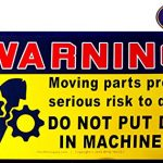Dont Put Dick in Machinery Warning Decals